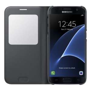 Official Samsung S7 SView Case Cover - BLACK or SILVER £14.99 delivered @  Vodafone ebay store