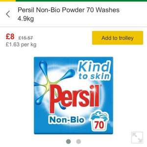 Persil Non-Bio Powder 70 Washes 4.9kg £8 @ Morrisons