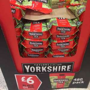 Yorkshire Tea 480 pack £6 @ Morrisons - instore