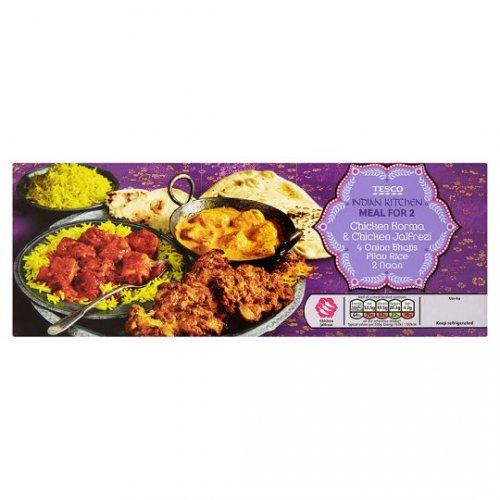 Tesco indian Meal For 2 [1.5Kg] £5 @ tesco instore [ 2xcurry+2xnaan+4xonion bhajji+pilau rice]