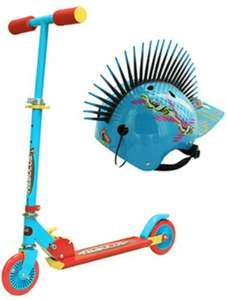 Blue Nebulus TX Scooter with Large Blue Spike Helmet Only £15 when you collect @ The Works (also available in Pink and a choice of helmets £5 each)
