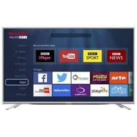 Sharp 49 Inch LC-49CUF8462KS Smart 4K Ultra HD LED TV £349 @ Tesco Direct