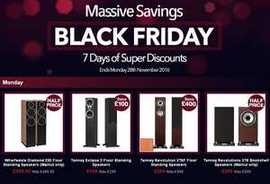 Tannoy Eclipse 3 £199 Tannoy Revolution XT6F £599 Tannoy Revolution XT6 Bookshelf Speakers £299 Wharfedale Diamond 230 Floorstanders £249.95 Superfi Black Friday Week