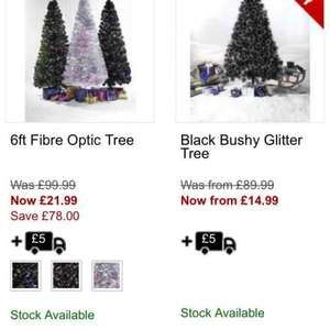 fibre optic 6ft tree £21.99 reduced from £99 at studio Black Friday deal plus £4.99 delivery or new customer free delivery