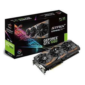 USED - ASUS NVIDIA GeForce GTX 1060 6 GB ROG STRIX GAMING OC GDDR5 VR Ready Graphics Card - Black ££226.35 Amazon