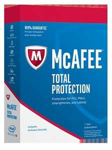 McAfee Total Protection Anti-Virus 75% Off £24