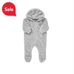 teddy fleece Pramsuit all in one @ Tesco Direct - £6