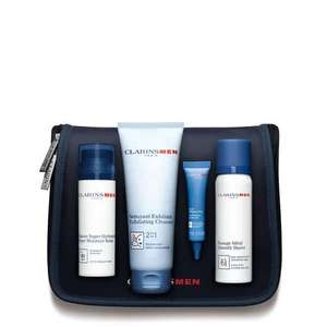 ClarinsMen Hydration & Cleansing Essentials Worth £71 for £30 delivered @ Clarins
