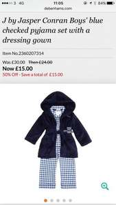 Jasper Conran Boys Nightwear Bundle £15 @ Debenhams- Free C&C