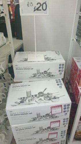 32 piece pan set instore at Wilkinsons - £13