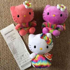 Ty Hello Kitty teddies £1 instore @ Poundworld Cardiff