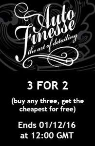 3 for 2 deal on all Auto Finesse products @ Polished Bliss