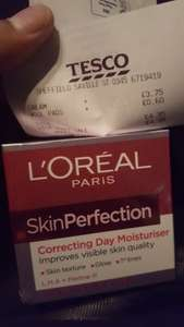 loreal skin perfection cream 50ml down from £14.99 reduce to clear £3.75 @ Tesco instore