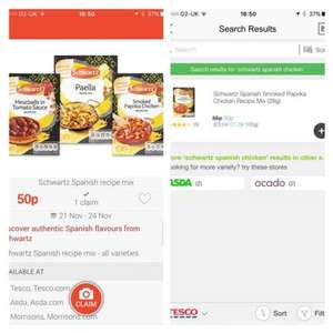 FREE after cashback, Schwartz Spanish chicken at Checkoutsmart (50p purchase)