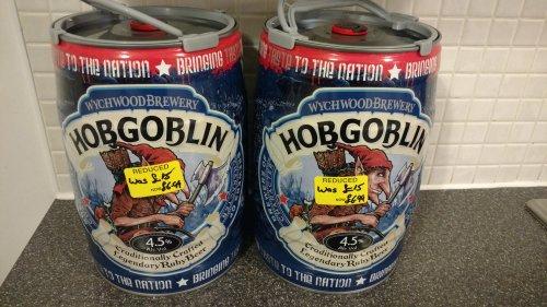 Wychwood Hobgoblin Mini Keg Ale 5 Litre RDC £6.99 @ Waitrose Instore