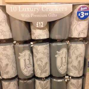10 pack luxury Christmas Crackers £2.99 at B&M