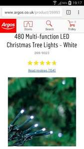 Christmas lights half price at Argos, price is for 480 lights £17.49