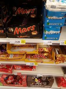 Instore @ tesco snickers mars 9 pack & twix 7 pack twin all half price now £1.25 from £2.50