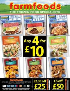 FarmFoods offers 4 for £10
