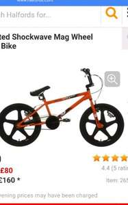 £X-Rated Shockwave Mag Wheel BMX Bike £72 @ Halfords