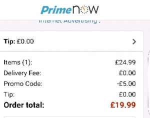amazon firestick £19.99 2 hour delivery @ amazon Prime Now with code