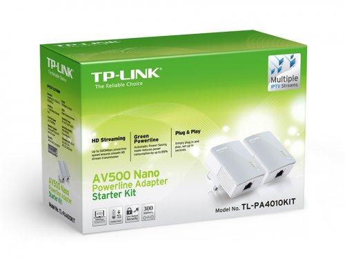 TP-Link AV500 TL-PA4010 500Mbps Nano Powerline Adaptor Starter Kit - £9 Tesco instore