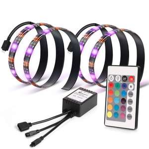 Vansky® TV Backlight for HDTV 2 LED Strips Lights, Multi Color RGB Home Theater Bias Lighting Kit With Remote Control for Flat Screen TV@Amazon