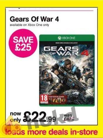 Gears of War 4 £22.99 HMV Black Friday Xbox One