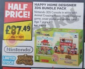 New Nintendo 3DS Animal Crossing Happy Home Designer Bundle £87.49 @ Toys R Us instore
