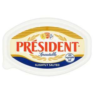 President Butter Slightly Salted Spreadable 500G @ Tesco - £2