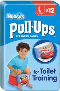 Huggies Pull Ups Night Time Potty Training Pants for Boys Size 6 Large 16-23kg  was £4.50 now £2.00 (Rollback Deal) @ Asda