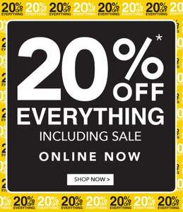 20% Off everything including sale at Peacocks