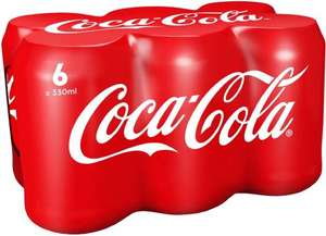Coca Cola + Diet + Zero + Cherry Cola (6 x 330ml) was £3.00 now 2 packs of 6 cans for £3.00 @ Iceland