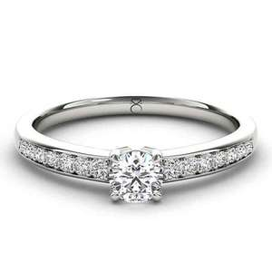 Save £1,000 on The Diamond Story 18ct White Gold 2/3 carat diamond ring £1499 with promo code ernestjones