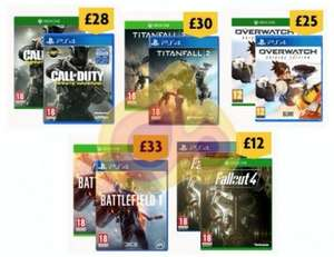 Morrisons Black Friday Deals from 25th to 28th November - PS4/XB1 Fallout 4 @ £12 / PS4/XB1 Battlefield 1 @ £33 / PS4/XB1 Call Of Duty Infinite Warfare @ £28 / PS4/XB1 Titanfall 2 @ £30 /  PS4/XB1 Overwatch Origins @ £25