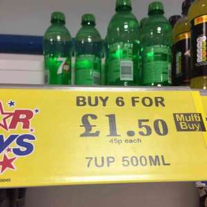 6x500ml Bottles of 7Up £1.50 @ Home Bargains