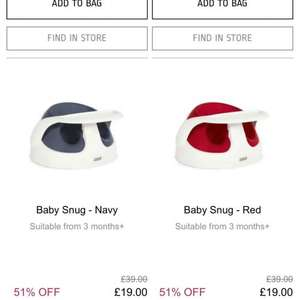 Mamas and papas baby snug £19 today only