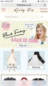 Lindy bop have their sale on