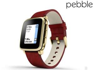 Pebble Time Steel Smartwatch (Gold) £74.95+£7.95 shipping @ ibood