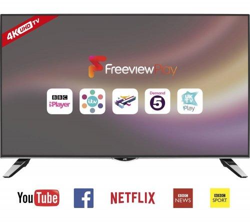 """JVC LT-40C860 Smart 4k Ultra HD 40"""" LED TV for £269 delivered at Currys"""