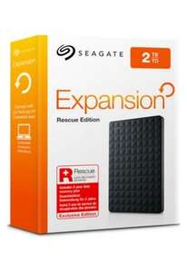 Seagate 2TB Expansion Portable Rescue Hard Drive for £44.99 @ Argos