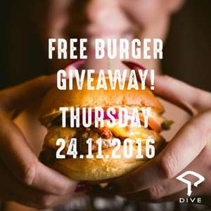 Free Burger at Dive NQ Manchester TODAY ONLY 12-1
