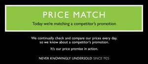 John Lewis No Argument Price Match On-line or In-store