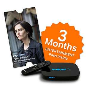 New Now TV Smart box with 3 months entertainment pass £24.99 Currys