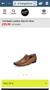 Ted Baker mens  Leather Slip On Shoe size 6 only £29.99 bargaincrazy