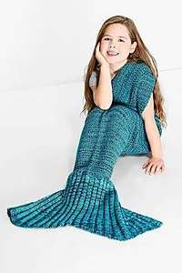 Childrens Mermaid Tail Blankets (6 colours available) £12.00 + Free Next Day Delivery at Boohoo