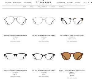 80% OFF AT TOYSHADES.COM -  Prescriptions glasses from £8, Sunglasses from £3