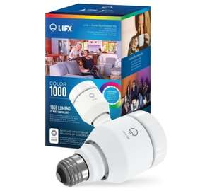 LIFX Colour 1000 11W E27 WiFi LED Light Bulb, Works with Alexa @Argos - £26.99