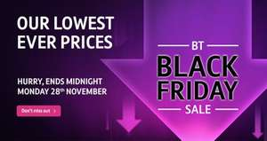 Black Friday BT Broadband Deal - 52mb Infinity + Calls £27.99/month all in - including £132 Quidco & £100 BT MCARD