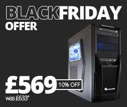 PC Specialist black friday deals are up! £569 GTX 1050Ti Gaming PC, £15 off voucher, reduced GTX980M gaming laptop